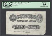 East Africa 20 Shilling 15-12-1921 P15p Face Die Proof Very Fine