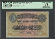 East Africa 20 Shilling- One Pound 1-9-1947 P30bs Specimen About Uncirculated