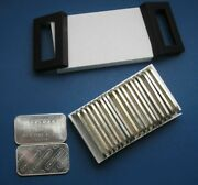 Engelhard 1oz Horizontal Logo Silver Bars 20 Pieces In Protective Case - Clean