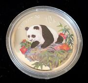 1999 1 Oz China Chinese Colorized Proof Silver Panda Bu In Plastic Capsule - H