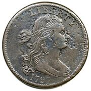 1797 S-133 R-5 Rev Of 97 Draped Bust Large Cent Coin 1c