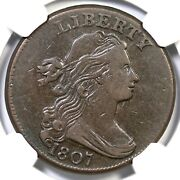 1807 S-275 R-3 Ngc Vf 30 Large Fraction Draped Bust Large Cent Coin 1c