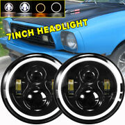 7inch Round Led Headlights Projector Drl Turn Signal For Ford Mustang 1965-1978