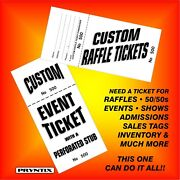 Raffle Tickets - Custom Printed Numbered And Perforated Card Stock