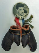 Vintage Original 1950s Rocky Marciano Pin Pinback With Mini Gloves Ex Cond Pin