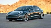 20andrdquo Flow Forged Bd-f18 Brushed Silver Wheels For Tesla Model 3 Y 20x9 And 20x10