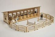 Xxl Wooden Horse Stable English 8 Stands Set Plus Accessories Schleich