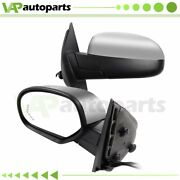 Left+right Power Heated Memory Signals Manual Fold Chrome Mirrors For Chevy Gmc