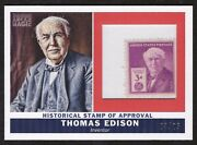 2010 Topps Magic Historical Stamp Thomas Edison 3/25 Short Print Sp Hs-te