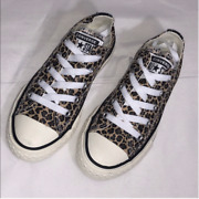 New Kids Converse Ctas Ox Leopard Animal Print Sneakers Size 11 12 1 2 3