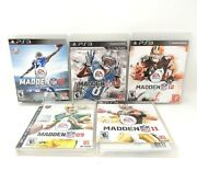 Ps3 - Madden Nfl 16, 13, 12, 11 And 09 - 5 Ps3 Game Lot........m12