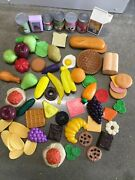 Vintage Fisher Price Play Kitchen Lot Food,cans, Bread,fruit,veggies,desserts+