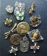 11 Austrian Austria Wwi Military Style Enamel Orders And Pins Austro Hungarian