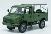 1/24 Scale China Iveco Nj2046 Army Truck Green Color Alloy Diecast Model