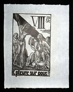 1920/1977 French Block Print The Way Of The Cross Jean Charlot 1898-1979mod8