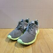 Nike Menand039s Roshe Run One Marble Medium Olive Mica Green Volt 669985-200 Size 10