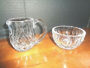 Waterford Crystal Creamer And Sugar With Box