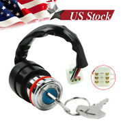 Universal Motorcycle Ignition Key Switch 6 Wire 3 Position Atv Go Kart Quad