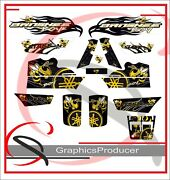 Yamaha Banshee Graphics Full Set Bee Decals Graphics Stickers Replica Style