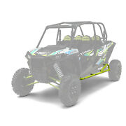 New Oem Polaris Rzr 4-seat Kick-out Rock Sliders - Lime Squeeze - 2882079-630