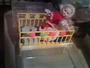 Susie Cute Topper Deluxe Reading Corp Doll 1964 Yellow Doll Bed And Case