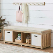 Better Homes And Gardens 4-cube Organizer Storage Bench Multiple Finishes