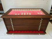 Money Chest Medals Table 10 Drawer 30 Trays For Coins Led Light Coin Cabinet