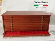Large Money Chest Medals Table 10 Drawer Vacuum Coinsandmore Coin Cabinet