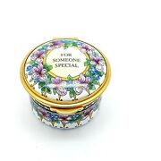 Hand Painted -andnbsp Staffordshire Enamelsandnbsp For Someone Special Enamel Box