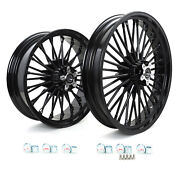 21/18and039and039 Front Rear Cast Wheels Single Disc For Harley Dyna Low Rider Street Bob