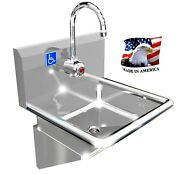 Ada 1 Station 17x17 Hand Sink Electronic Faucet Heavy Duty 14ga 0.0781 From Usa