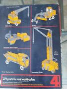 Meccano 4 Set 1970and039s Vintage 99 Complete 275 Parts Assembly For 66 Models