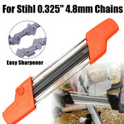 2 In 1 Metal .325 4.8mm Easy Chainsaw Sharpener Chain File Grinder For Stihl