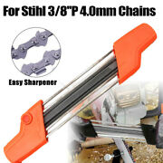 2 In 1 Metal Easy Chainsaw Sharpener Chain 3/8and039and039p 4.0mm File Grinder For Stihl
