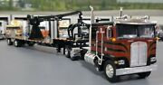 1/64 Dcp K100 Kenworth Black/red And Crane Fitted To Trailer New 60-0695