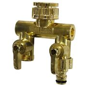 Holman Metal Tap Outlet 12mm Snap On Adaptor, Gold Aust Brand - 2 Or 4 Way