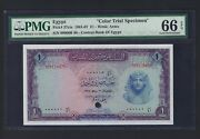 Egypt One Pound 3-5-1965 P37ct Color Trial Uncirculated