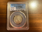 1842-o Small Date Seated Liberty Silver Quarter Pcgs Genuine Scratch Xf Detail