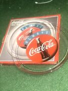 """Vintage 1974 Always Coca Cola Glass Plate Round 13"""" Platter Dish New In Box Rare"""