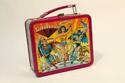 1976 Super Friends Lunch Box Tin Aladdin Collectible  Embossed No Thermos
