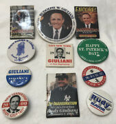 Presidential Pin Back Campaign Button Rudy Giuliani Lot 1994 And Up Rare Hebrew