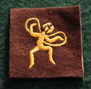 Vintage Girl Scout - Brownie Six Emblem -yellow Fairy 1928-1937 - New Old Stock