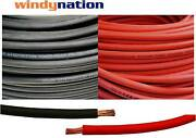 8 6 4 2 1/0 2/0 4/0 Gauge Awg Red And Or Black Welding Battery Copper Cable