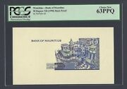 Mauritius 50 Rupees Nd1998 P43p Back Proof Uncirculated