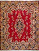 Hand Knotted 10and039 1 X 12and039 8 Red Kirman 100 Natural Wool Genuine Persiann Rug