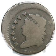 1814 Pcgs G 4 15 Off Center Classic Head Large Cent Coin 1c Ex Dan Holmes