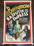 Rasputin And The Empress - John Lionel And Ethel Barrymore 1932 One Sheet ...