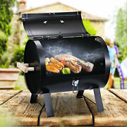 Outsunny 20 Portable Outdoor Camping Charcoal Barbecue Grill W/ Wooden Handles