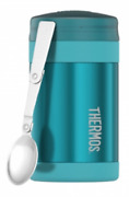 Thermos Insulated Food Jar 470ml Stainless Steel, Extra Wide Mouth Teal