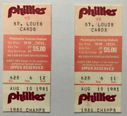 Pete Rose 3631st Hit Nl Record Stan Musial Phillies Ticket Stub 8/10/1981 August